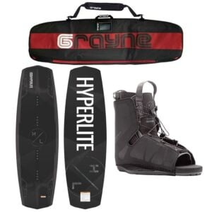 Hyperlite Destroyer 2021 Wakeboard Package With Frequency Bindings