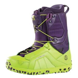 Rome Libertine Pureflex Snowboard Boots Purple And Green