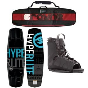Hyperlite Machete 2021 Wakeboard Package With Frequency Bindings