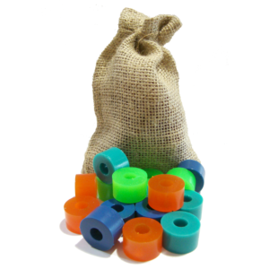 Hairy Bushings Free Race Hairy Sack Longboard Bushing Kit -Light