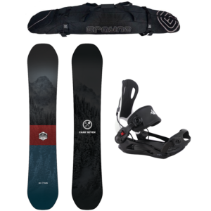 Special Snowboard Package Camp Seven Redwood and MTN Rear Entry Bindings