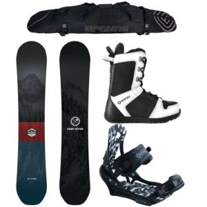 Special Camp Seven Redwood and APX Complete Snowboard Package