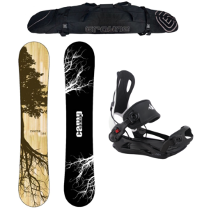 Special Snowboard Package Camp Seven Roots CRCX 2021 and System MTN Rear Entry Bindings