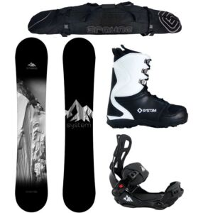 Special Snowboard Package System Timeless and LTX Rear Entry Bindings Complete