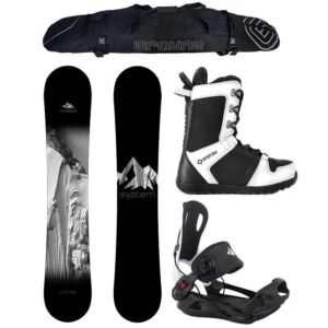 Special Snowboard Package System Timeless and MTN Rear Entry Bindings Complete