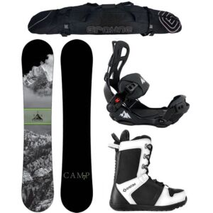 Special Snowboard Package Camp Seven Valdez and LTX Rear Entry Bindings Complete