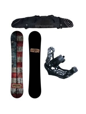 Special Camp Seven Drifter and APX Binding Men's Snowboard Package
