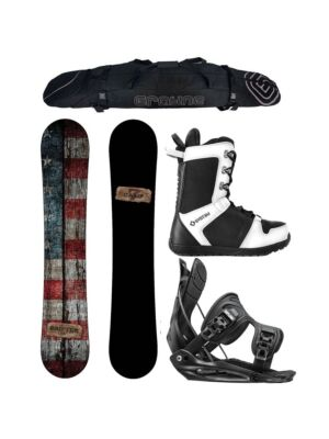 Special Camp Seven Drifter and Flow Alpha MTN Men's Complete Snowboard Package