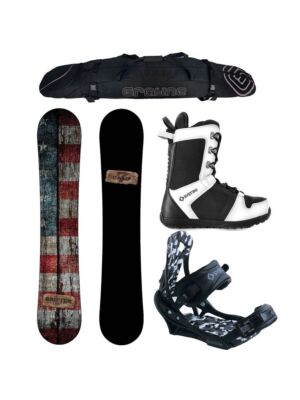 Special Camp Seven Drifter and APX Men's Snowboard Package
