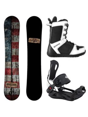 Special Snowboard Package Drifter and System MTN Rear Entry Bindings Complete