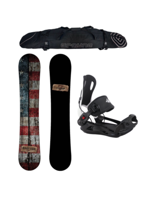 Special Snowboard Package Camp Seven Drifter and System MTN Rear Entry Bindings