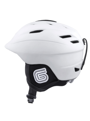 Grayne MTN Ski and Snowboard Helmet White w/Audio Ready Liner