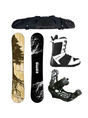 Special Camp Seven Roots CRCX 2020 and APX Complete Snowboard Package