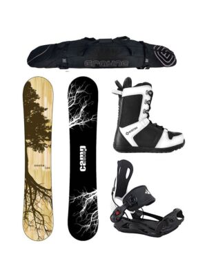 Special Snowboard Package Camp Seven Roots CRCX 2020 and System MTN Rear Entry Bindings Complete