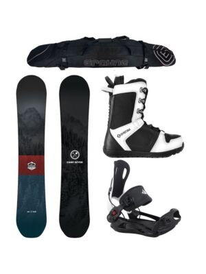 Special Snowboard Package Camp Seven Redwood and MTN rear Entry Bindings Complete
