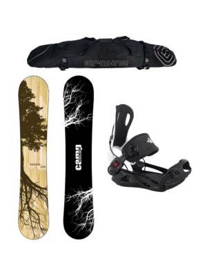 Special Snowboard Package Camp Seven Roots CRCX 2020 and System MTN Rear Entry Bindings