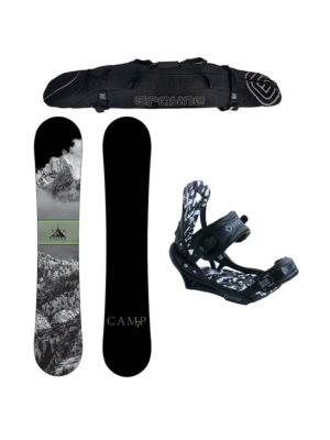 Special Camp Seven Valdez and APX Binding Men's Snowboard Package