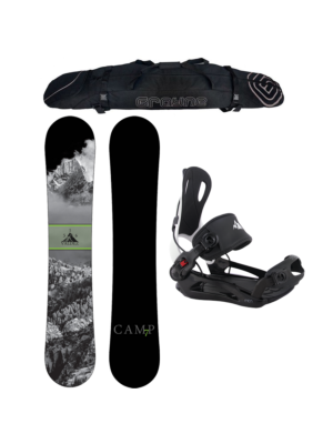 Special Snowboard Package Camp Seven Valdez and MTN Rear Entry Bindings